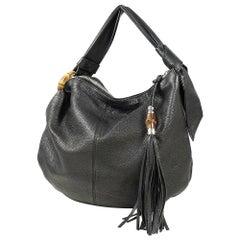 GUCCI fringe Hobo one shoulder unisex shoulder bag 450953 black