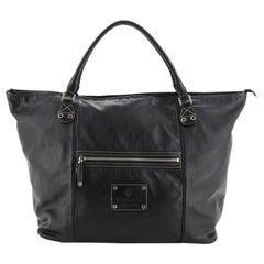 Gucci Front Zip Pocket Tote Leather Large