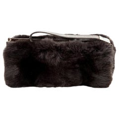 Gucci Fur and Crocodile Clutch Bag