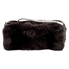 Gucci Fur and Crocodile Clutch Bag