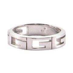 Gucci G Band 18 Karat White Gold Ring