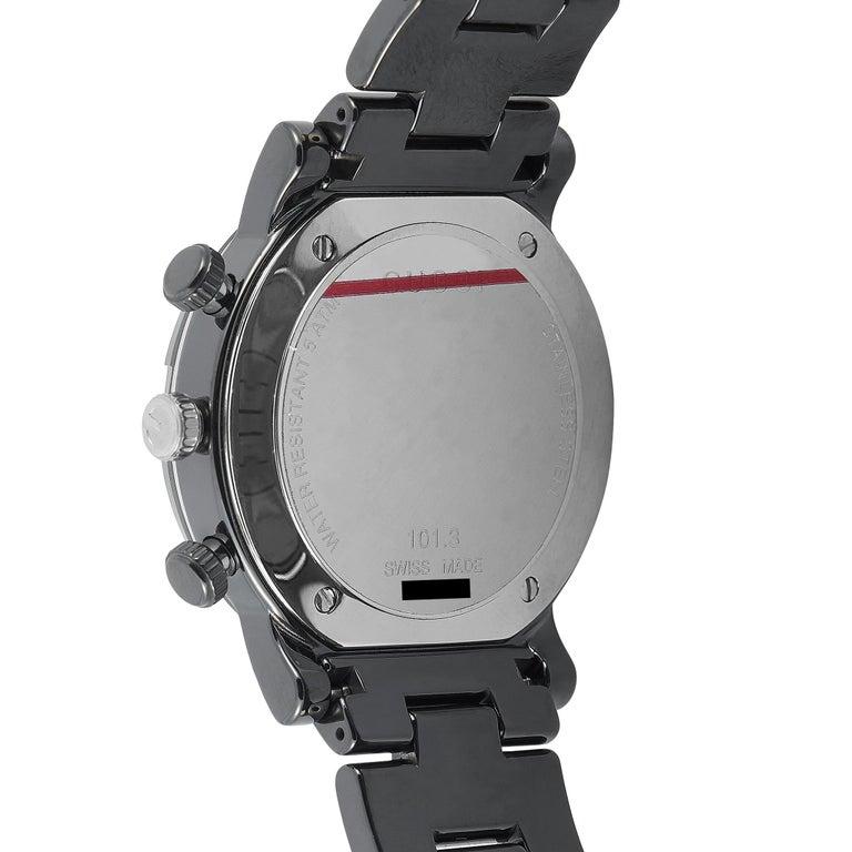 Men's Gucci G-Chrono Black Ceramic Watch YA101352 For Sale
