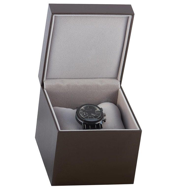 Gucci G-Chrono Black Ceramic Watch YA101352 For Sale 2