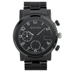Gucci G-Chrono Black Ceramic Watch YA101352