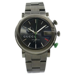 Gucci G-Chrono Black Dial PVD Stainless Steel Quartz Men's Watch YA101331