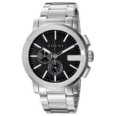 Gucci G-Chrono Black Dial Stainless Steel Men's Watch Item No. YA101204