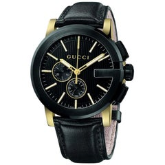 Gucci G-Chrono Chronograph Black Dial Men's Watch YA101203