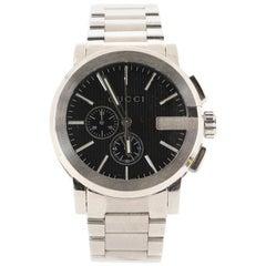 Gucci G-Chrono Chronograph Quartz Watch Stainless Steel 44