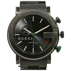 Gucci G-Chrono PVD Steel Black Sticks Dial Quartz Men Luminescent Watch YA101331