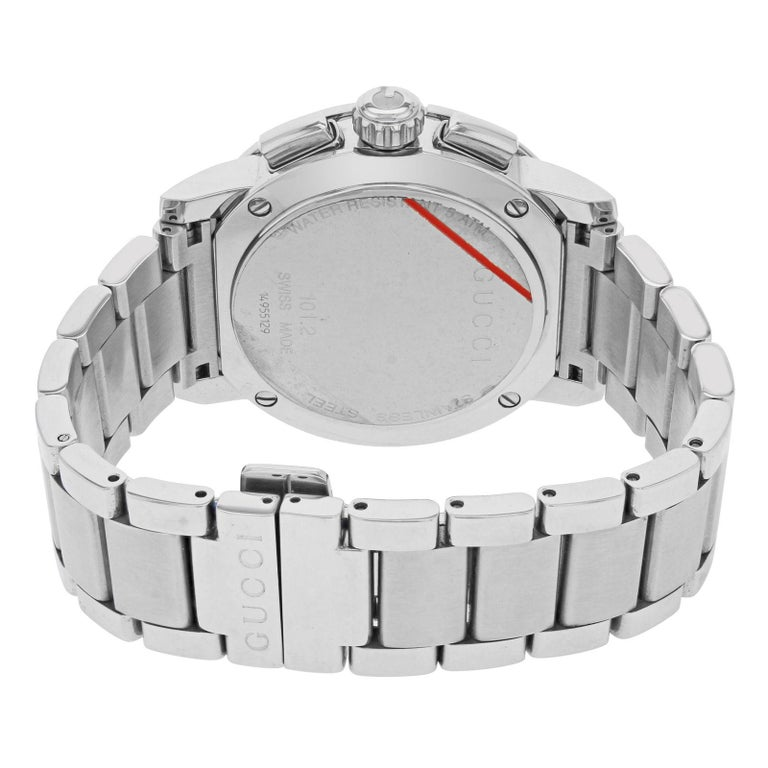 70163a2cab6 Gucci G-Chrono Silver Round Dial Stainless Steel Quartz Men s Watch YA101201  For Sale 2