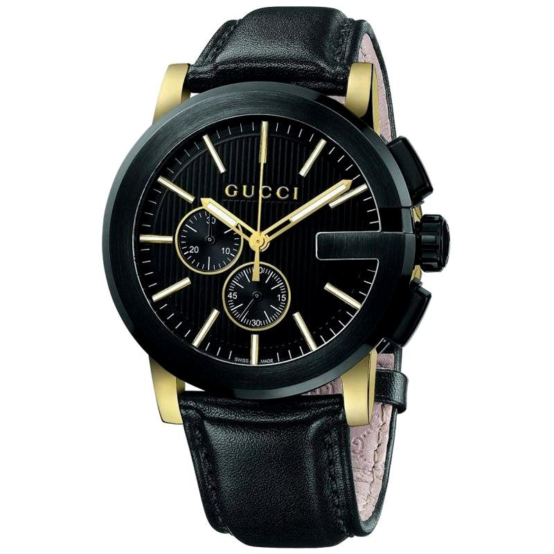Gucci G Chronograph Black Dial Men's Watch YA101203