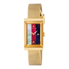 Gucci G-Frame Quartz Stainless Steel Rectangle Dial Unisex Watch YA147410