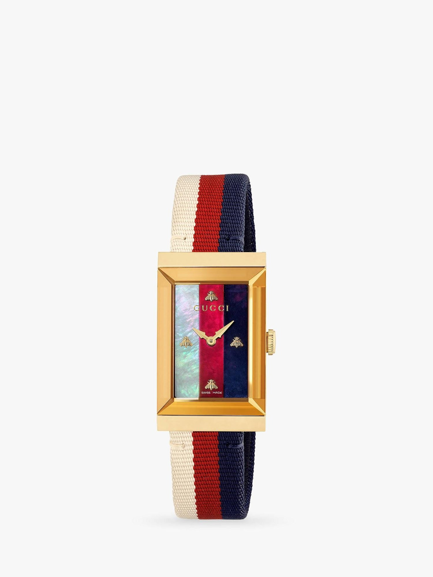 f731859fcd7 Gucci G-Frame Quartz Yellow Gold PVD Rectangular Dial Ladies Watch YA147405  For Sale at 1stdibs