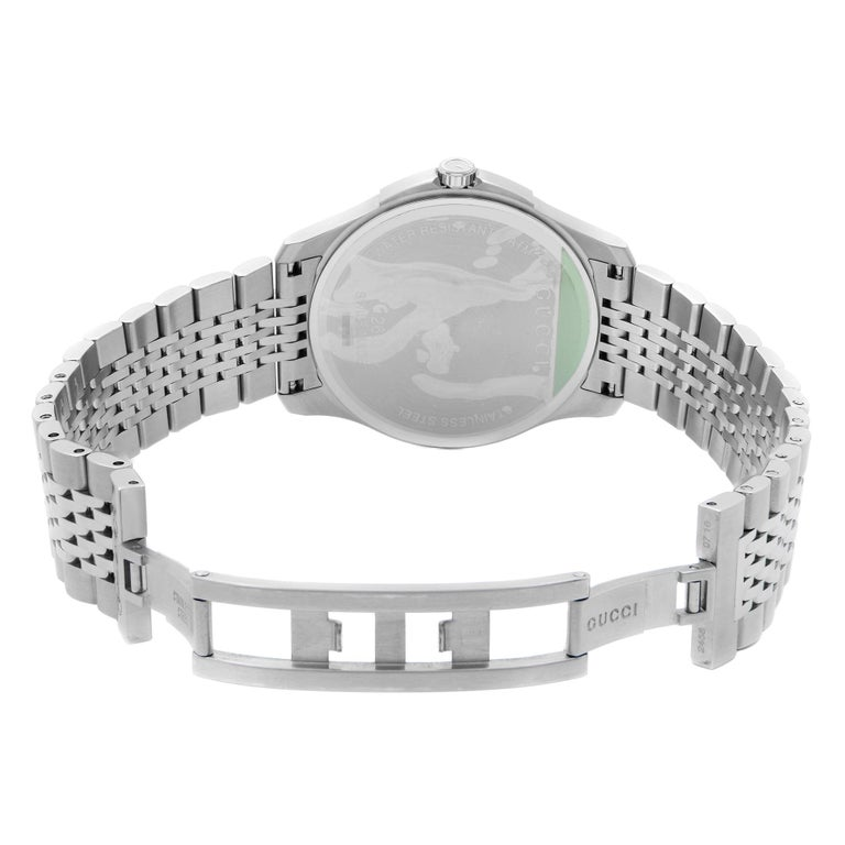 Gucci G-Timeless Stainless Steel Bronze Dial Quartz Mens Watch YA126349 2