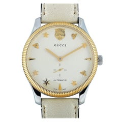 Gucci G-Timeless Automatic Silver Dial Watch YA126348