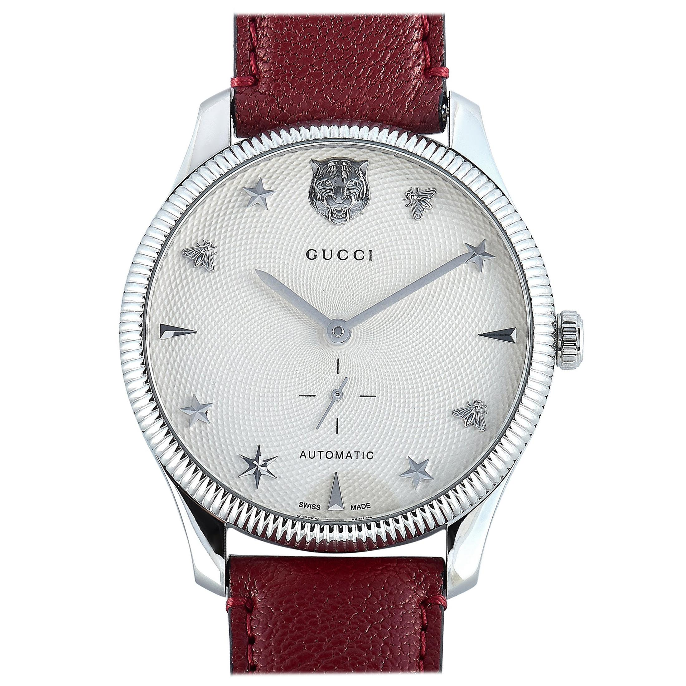Gucci G-Timeless Automatic Stainless Steel Watch YA126346