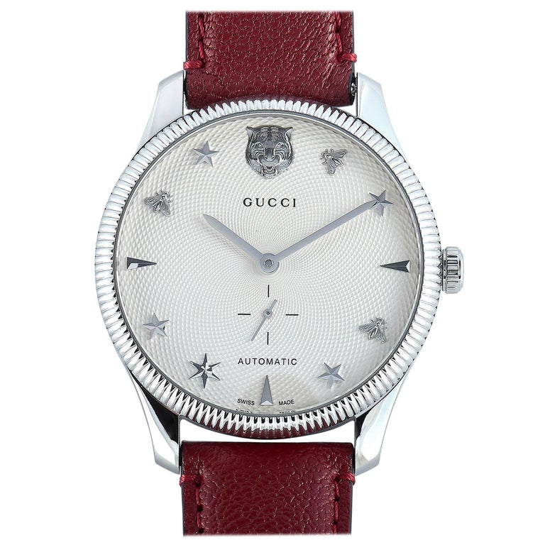 Gucci G-Timeless Automatic Stainless Steel Watch YA126346 For Sale