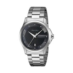 Gucci G-Timeless Black Dial Diamond Unisex Watch Item No. YA126456