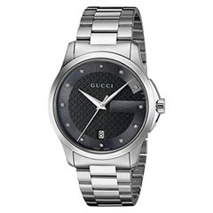 Gucci G-Timeless Black Dial Diamond Watch Item YA126456