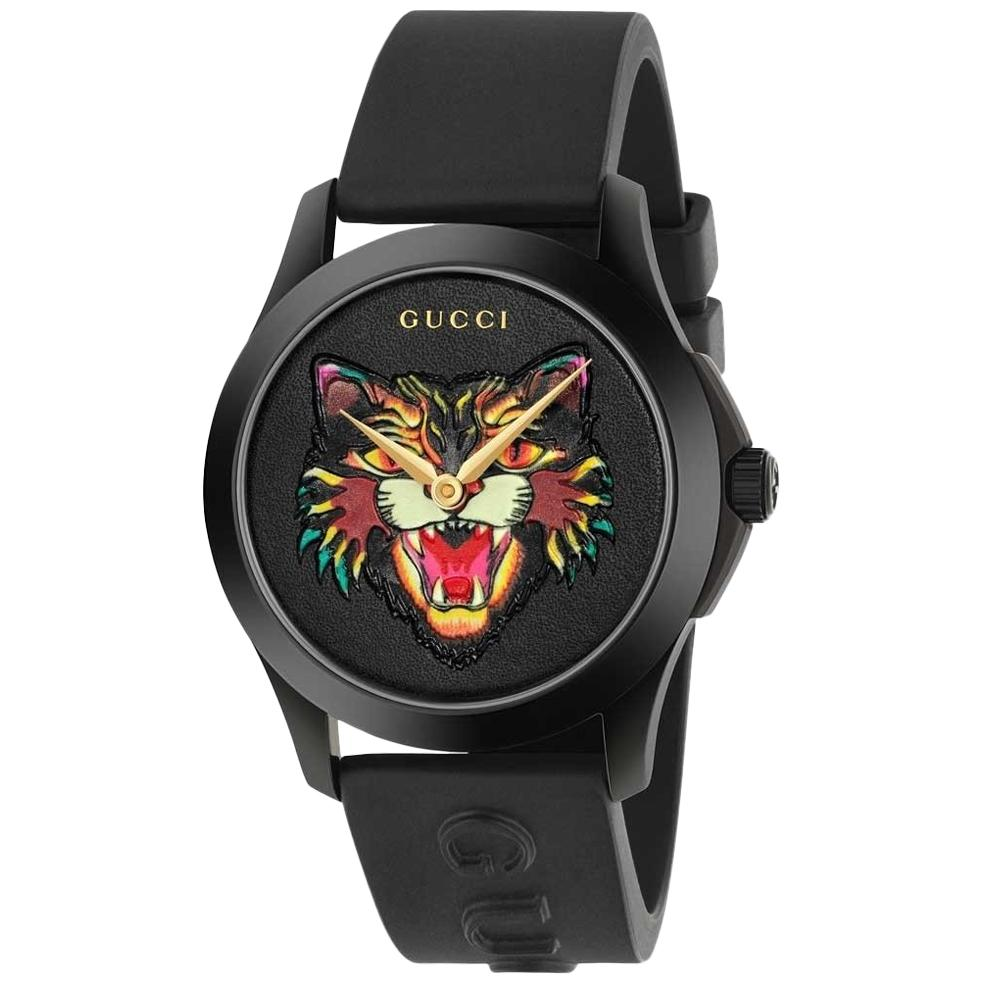 7bb8ba89b72 Gucci G-Timeless Black with Stars and Planet Moonphase Watch Item No  YA1264045 For Sale at 1stdibs