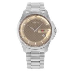 Gucci G-Timeless Brown Dial Stainless Steel Quartz Men's Watch YA126310