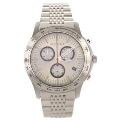Gucci G-Timeless Chronograph Quartz Watch Stainless Steel 44