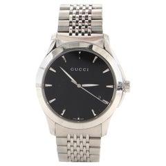 Gucci G-Timeless Diamante Date Quartz Watch Stainless Steel 38