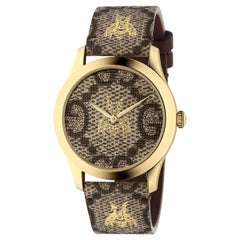 Gucci G-Timeless GG Supreme Canvas Dial Unisex Watch YA1264068