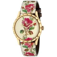 Gucci G Timeless Gold Tone Ladies Watch YA1264084