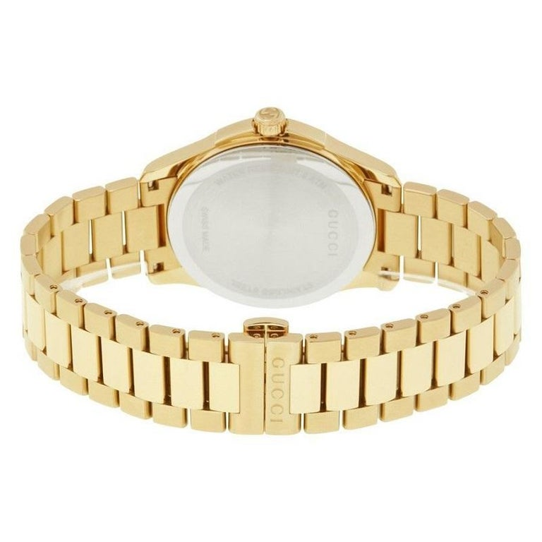 Gucci G-Timeless Gold-Tone Stainless Steel Watch YA126461A In New Condition For Sale In Wilmington, DE