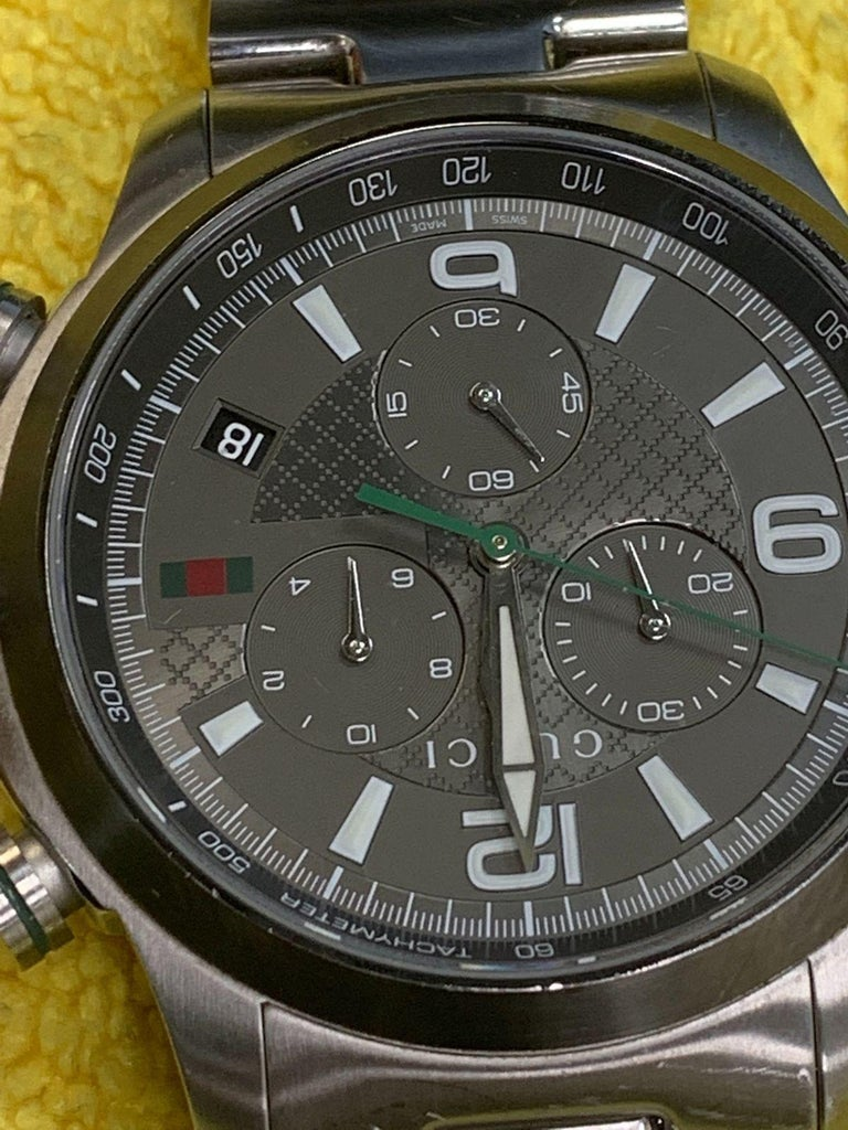 fc331f9c46e ... Steel Quartz Men s Watch YA126238 For Sale. (27861) This pre-owned Gucci  G-Timeless YA126238 is a beautiful men s