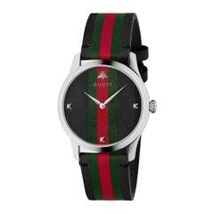 Gucci G-Timeless Men's Leather Watch YA1264079