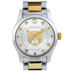 Gucci G-Timeless Quartz Silver Dial Watch YA126596