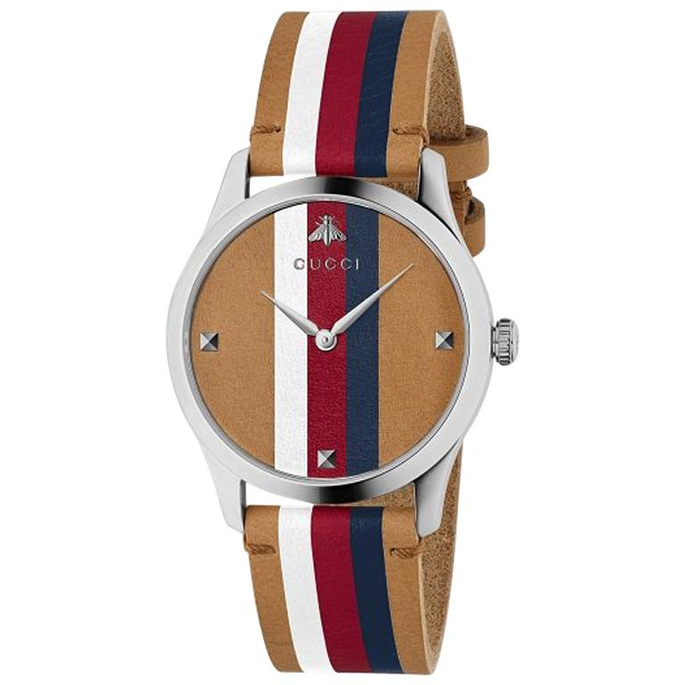0ff4dac9da1 Gucci G-Timeless Quartz Stainless Steel Round Dial Unisex Watch YA1264078  For Sale at 1stdibs