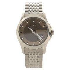 Gucci G-Timeless Quartz Watch Stainless Steel