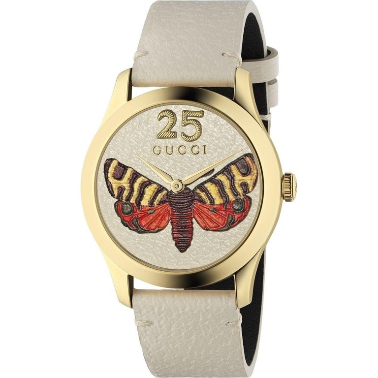 a9c1f1c9938 Gucci G-Timeless Quartz Yellow Gold PVD Mixed Dial Ladies Watch YA1264062  For Sale