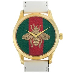 Gucci G-Timeless Red and Green Bee Dial Watch YA1264128