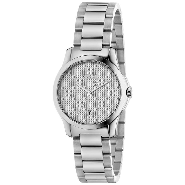 113ac169977 Gucci G-timeless Silver Dial Stainless Steel Ladies Watch Item No. YA126551  For Sale
