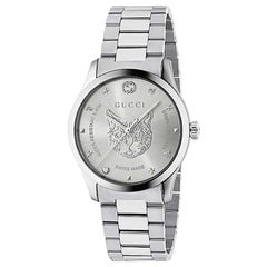 Gucci G-Timeless Silver Dial Stainless Steel Watch YA1264095