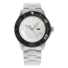 Gucci G-Timeless Sport Beige Checkered Dial Steel Quartz Men's Watch YA126250