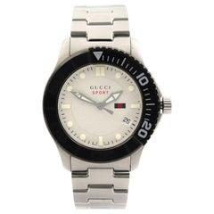 Gucci G-Timeless Sport Steel Silver Dial Quartz Luminescent Men's Watch YA126250