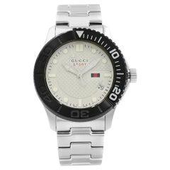 Gucci G-Timeless Sport Steel Silver Dial Quartz Men's Luminescent Watch YA126250
