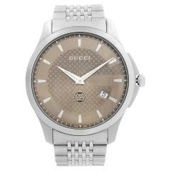 Gucci G-Timeless Stainless Steel Bronze Dial Quartz Mens Watch YA126349