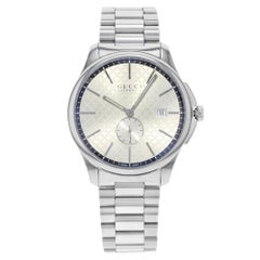 Gucci G-Timeless Stainless Steel Silver Dial Automatic Men's Watch YA126320