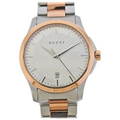 Gucci G-Timeless Stainless Steel Two-Tone Watch YA126447