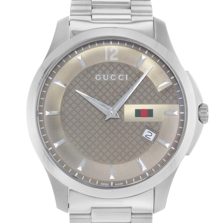 b66bcb5272c ... YA126310 Brown Dial Stainless Steel Quartz Men s Watch For Sale.  (16580) This display model Gucci G-Timeless YA125310 is a beautiful men s  timepiece