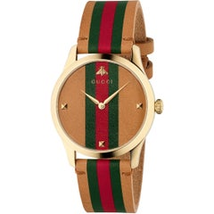 Gucci G-Timeless Yellow Gold PVD Round Dial Unisex Watch YA1264077