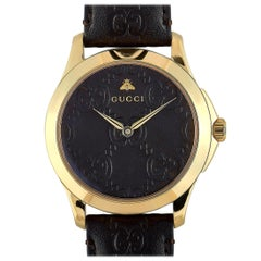 Gucci G-Timeless Yellow Gold-Tone Watch YA1264035