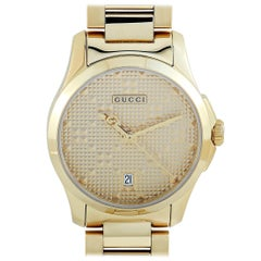 Gucci G-Timeless Yellow Gold-Tone Watch YA126553