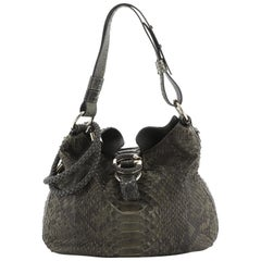 Gucci G Wave Hobo Python Medium, crafted from genuine green python skin